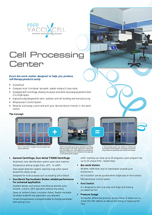 Cell Processing Centre Sell Sheet
