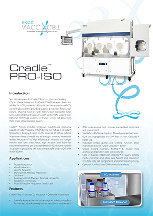 Cradle™-Pro Iso Sell Sheet