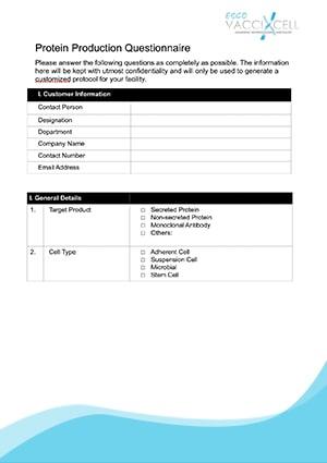 Protein Production Questionnaire - EN
