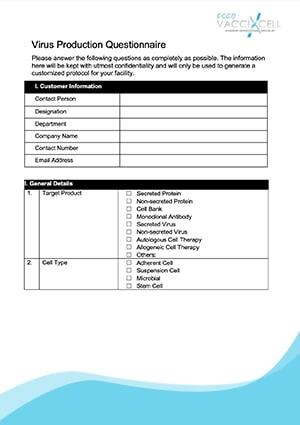 Virus Production Questionnaire - EN