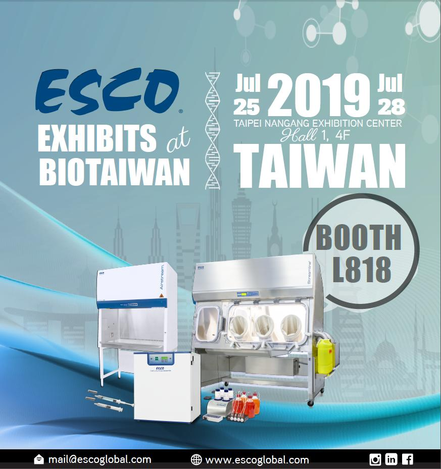 Buckle Up! Join Esco at BIO Asia-Taiwan International Conference and Exhibition